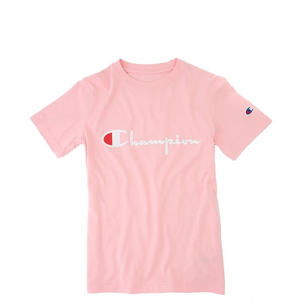 Champion Script Logo Tee - Little Kid / Big Kid - Pink