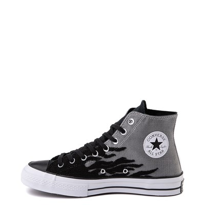 Alternate view of Converse Chuck 70 Hi Flames Sneaker - Black / Gray