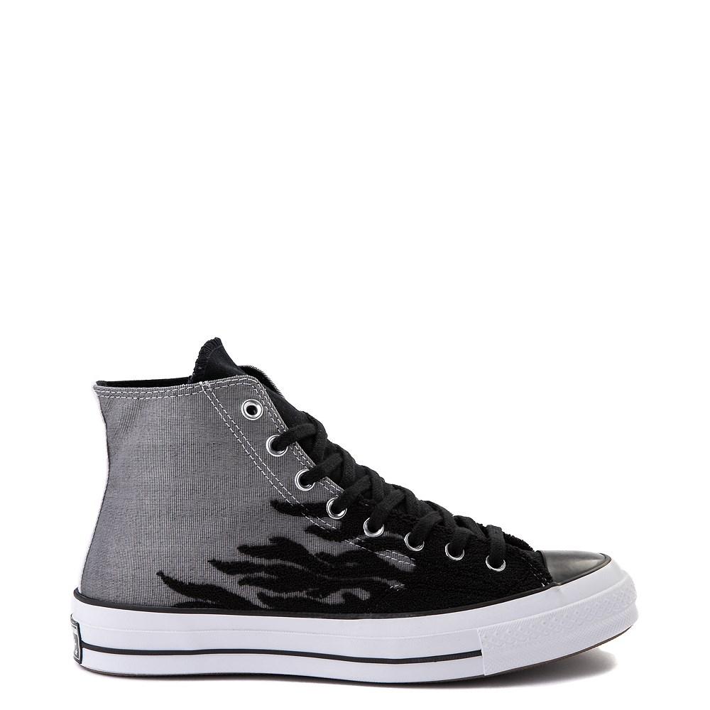 Converse Chuck 70 Hi Flames Sneaker - Black / Gray