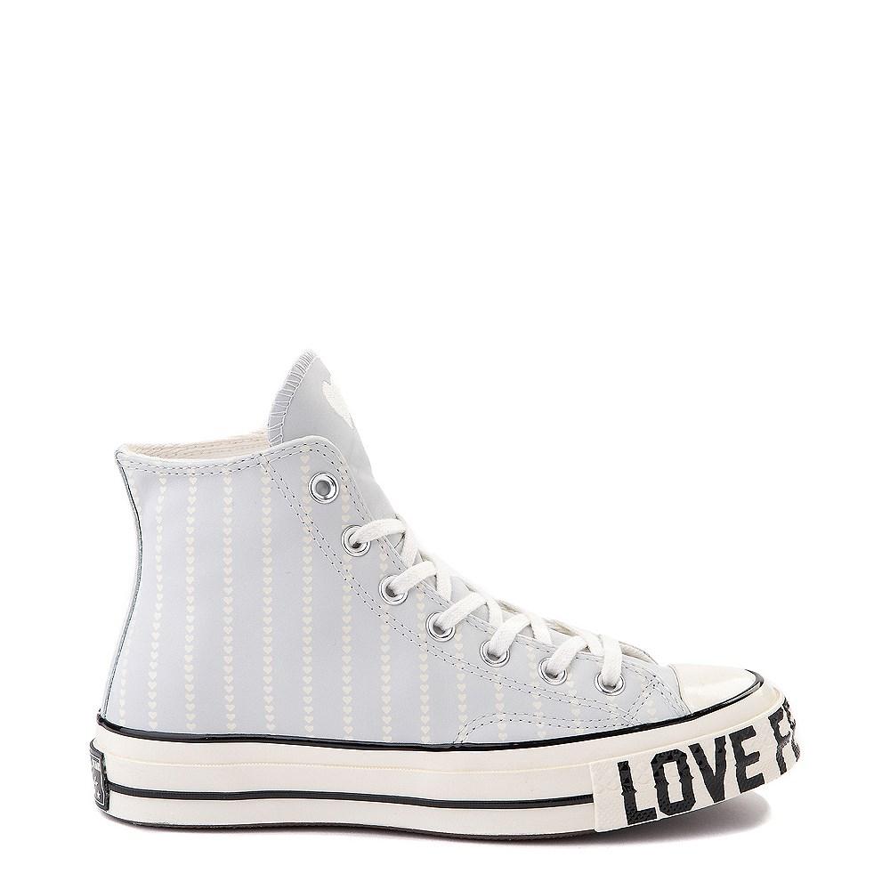 Womens Converse Chuck 70 Hi Love Fearlessly Sneaker - Photon Dust