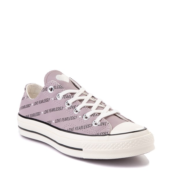 alternate view Womens Converse Chuck 70 Lo Love Fearlessly Sneaker - Amethyst GrayALT1