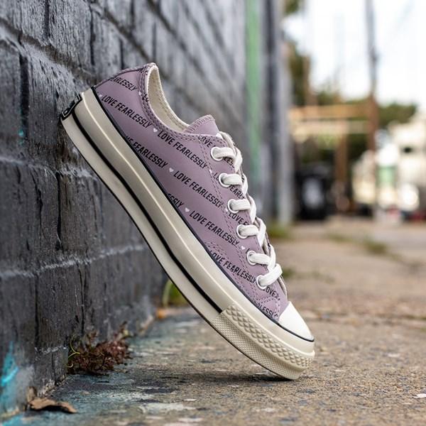 alternate view Womens Converse Chuck 70 Lo Love Fearlessly Sneaker - Amethyst GrayALT1B