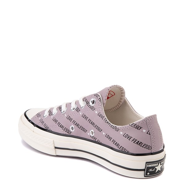 alternate view Womens Converse Chuck 70 Lo Love Fearlessly Sneaker - Amethyst GrayALT2