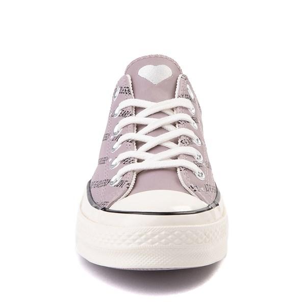 alternate view Womens Converse Chuck 70 Lo Love Fearlessly Sneaker - Amethyst GrayALT4