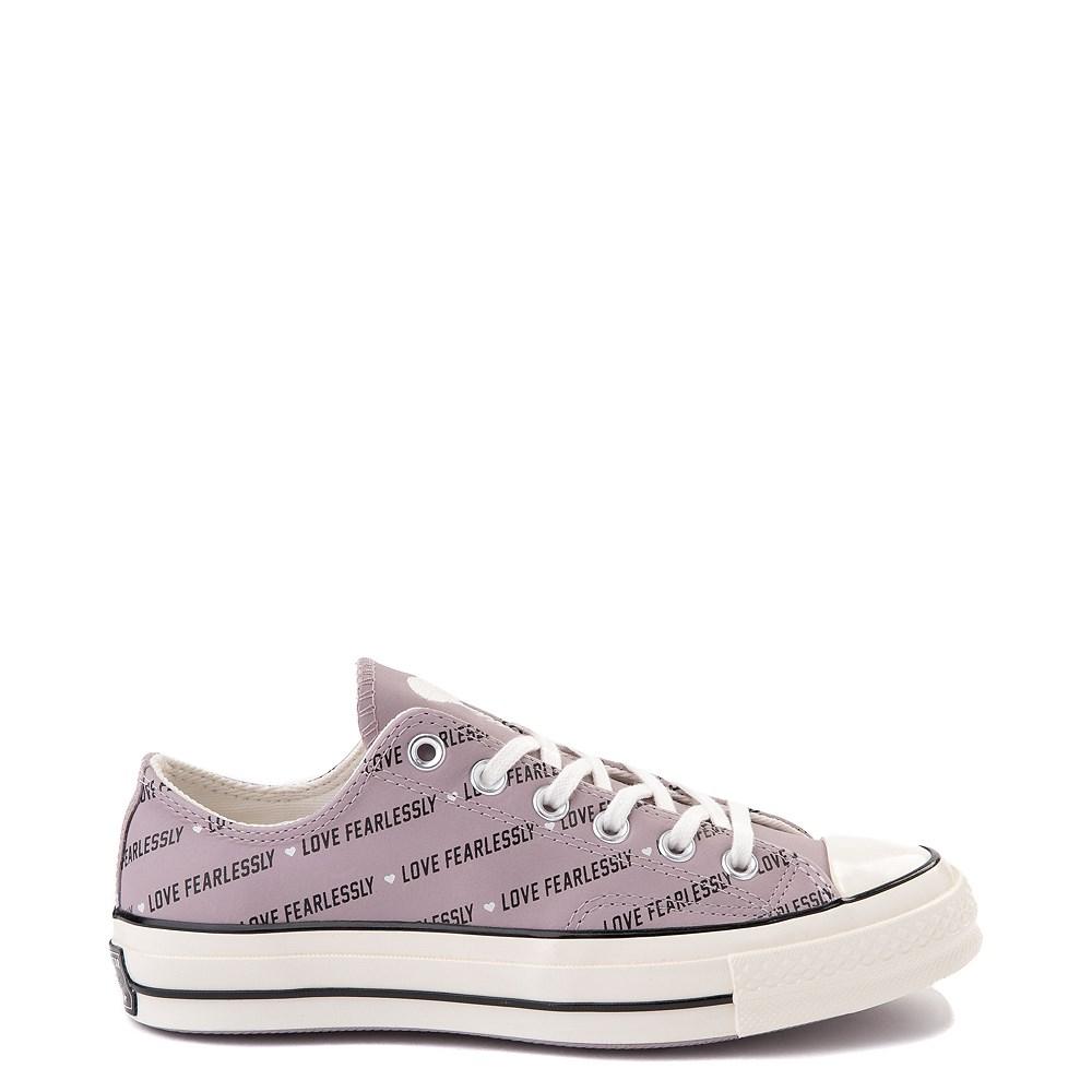 Womens Converse Chuck 70 Lo Love Fearlessly Sneaker - Amethyst Gray
