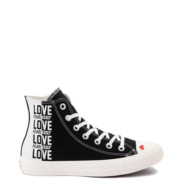 Womens Converse Chuck Taylor All Star Hi Love Fearlessly Sneaker - Black / Egret