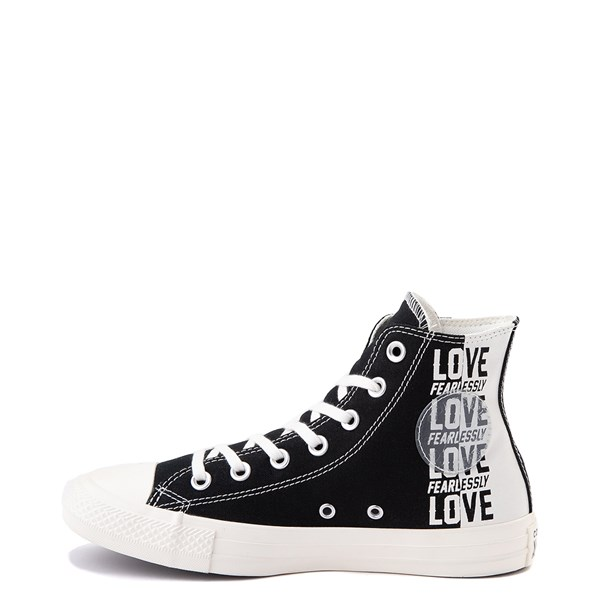 alternate view Womens Converse Chuck Taylor All Star Hi Love Fearlessly Sneaker - Black / EgretALT1