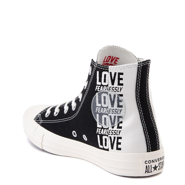 alternate view Womens Converse Chuck Taylor All Star Hi Love Fearlessly Sneaker - Black / EgretALT2