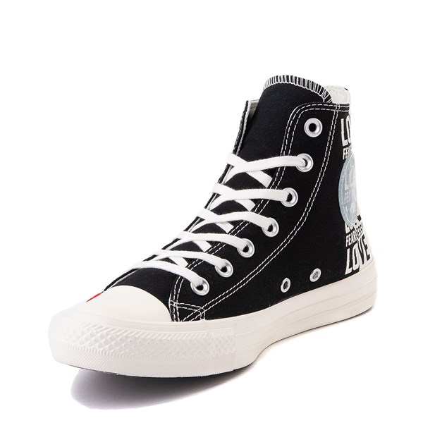 alternate view Womens Converse Chuck Taylor All Star Hi Love Fearlessly Sneaker - Black / EgretALT3