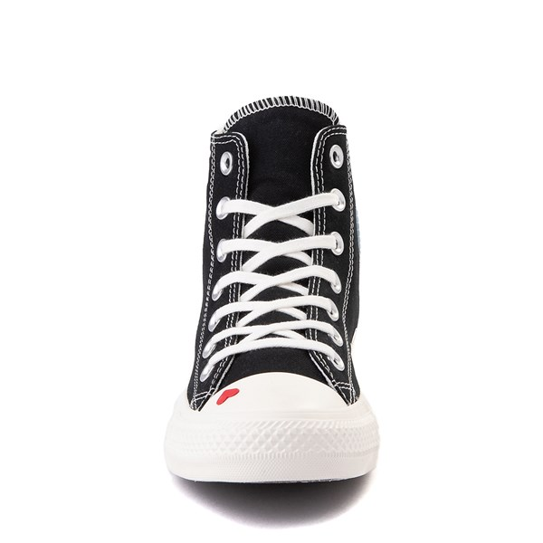 alternate view Womens Converse Chuck Taylor All Star Hi Love Fearlessly Sneaker - Black / EgretALT4
