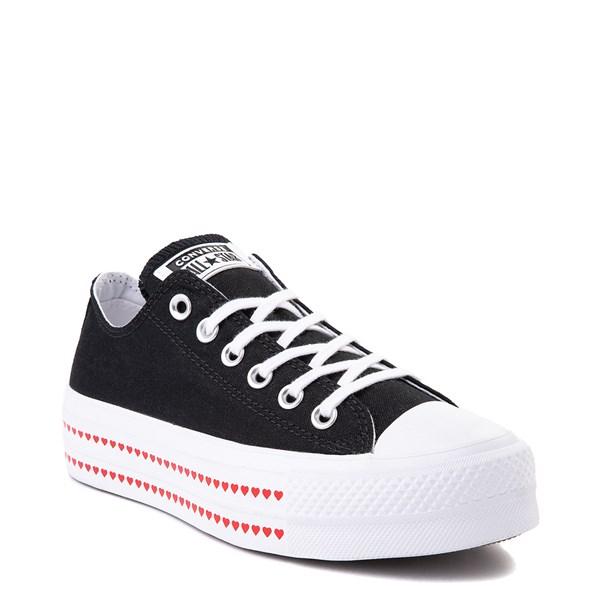alternate view Womens Converse Chuck Taylor All Star Lo Love Fearlessly Platform Sneaker - BlackALT1