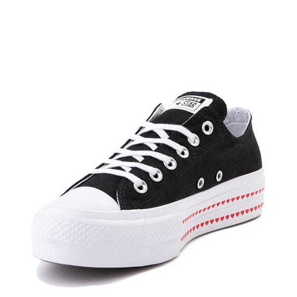 alternate view Womens Converse Chuck Taylor All Star Lo Love Fearlessly Platform Sneaker - BlackALT3