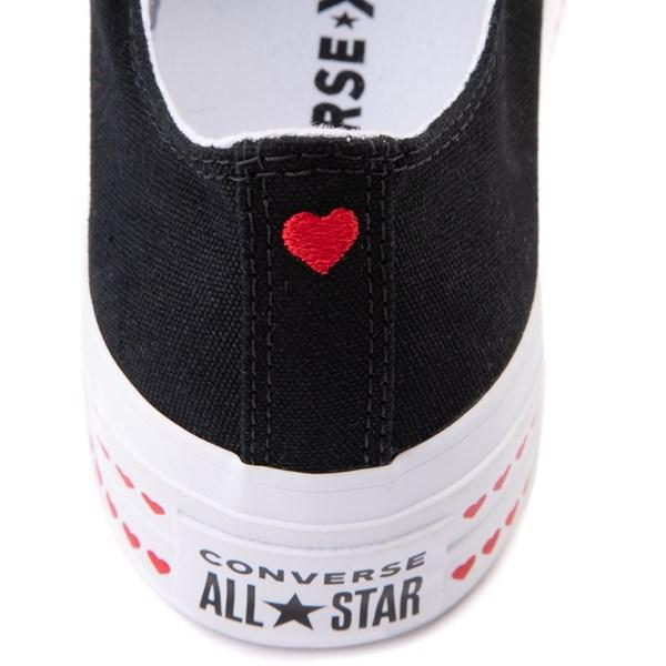 alternate view Womens Converse Chuck Taylor All Star Lo Love Fearlessly Platform Sneaker - BlackALT6