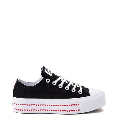 Main view of Womens Converse Chuck Taylor All Star Lo Love Fearlessly Platform Sneaker - Black