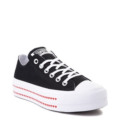 Alternate view of Womens Converse Chuck Taylor All Star Lo Love Fearlessly Platform Sneaker - Black