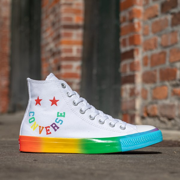 alternate view Converse Chuck Taylor All Star Hi Smiley Sneaker - White / MultiALT1B