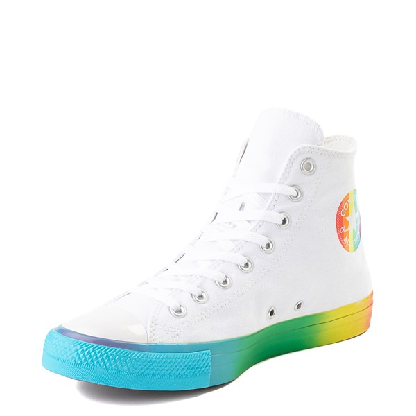 alternate view Converse Chuck Taylor All Star Hi Smiley Sneaker - White / MultiALT2