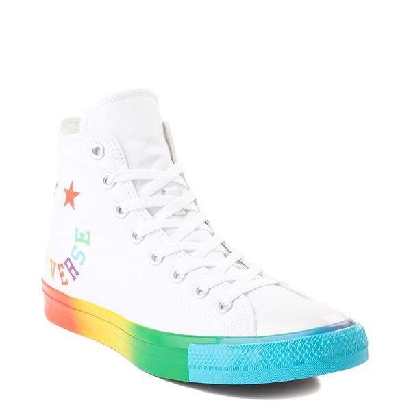 alternate view Converse Chuck Taylor All Star Hi Smiley Sneaker - White / MultiALT5