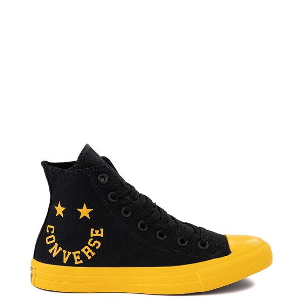 Main view of Converse Chuck Taylor All Star Hi Smiley Sneaker - Black / Yellow
