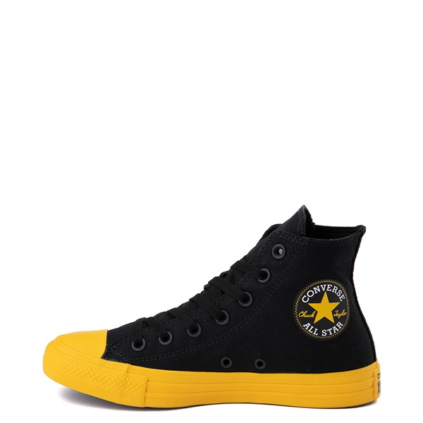 alternate view Converse Chuck Taylor All Star Hi Smiley Sneaker - Black / YellowALT1