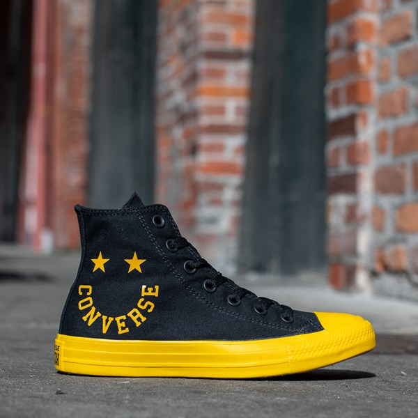 alternate view Converse Chuck Taylor All Star Hi Smiley Sneaker - Black / YellowALT1B