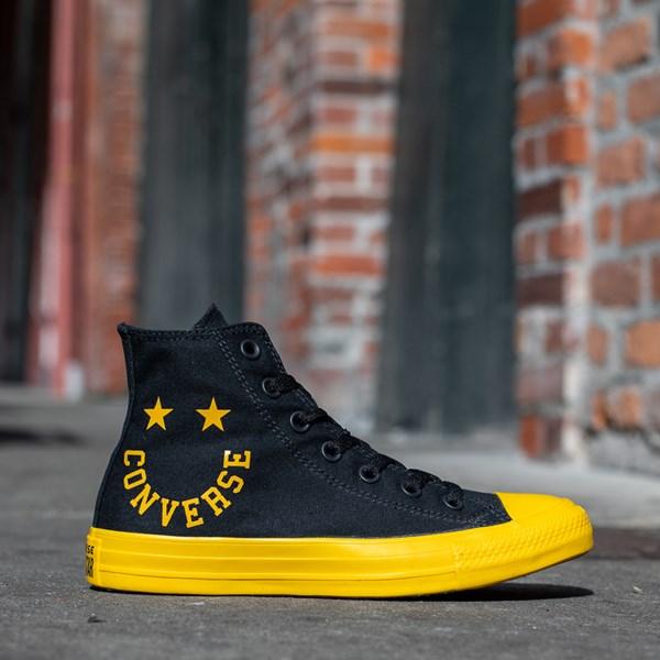 alternate view Converse Chuck Taylor All Star Hi Smiley Sneaker - Black / YellowALT1B