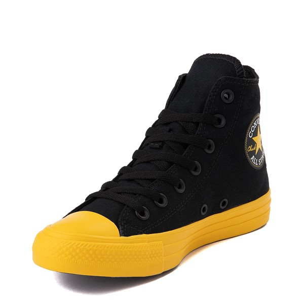 alternate view Converse Chuck Taylor All Star Hi Smiley Sneaker - Black / YellowALT2