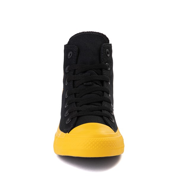 alternate view Converse Chuck Taylor All Star Hi Smiley Sneaker - Black / YellowALT4