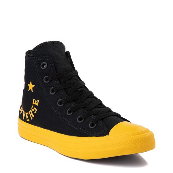 alternate view Converse Chuck Taylor All Star Hi Smiley Sneaker - Black / YellowALT5