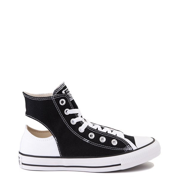 Converse Chuck Taylor All Star Hi Twisted Upper Sneaker - Black / White