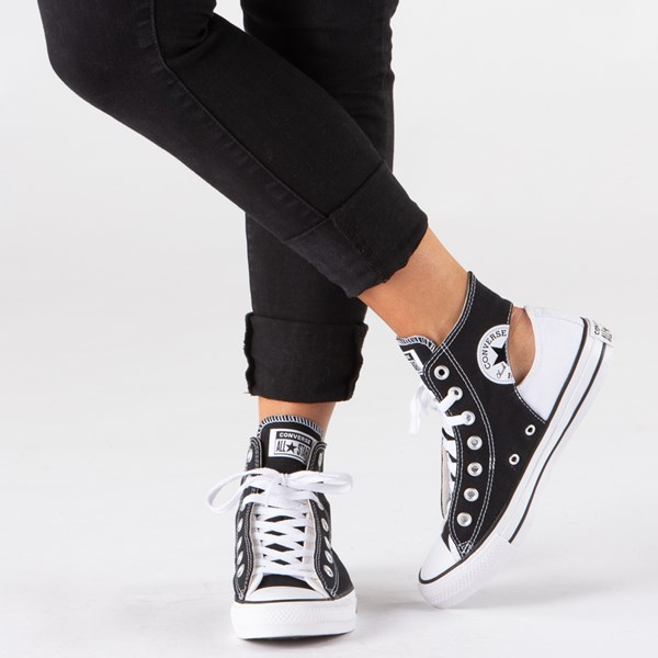 alternate view Converse Chuck Taylor All Star Hi Twisted Upper Sneaker - Black / WhiteALT1