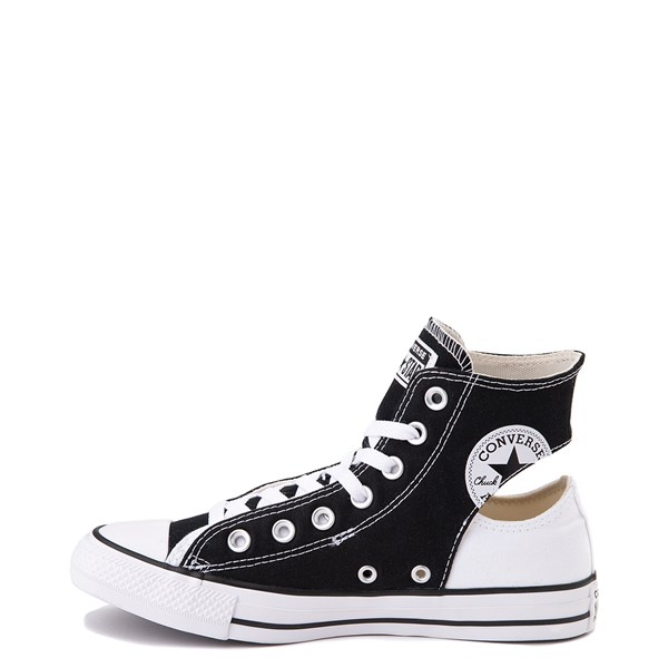 alternate view Converse Chuck Taylor All Star Hi Twisted Upper Sneaker - Black / WhiteALT1B
