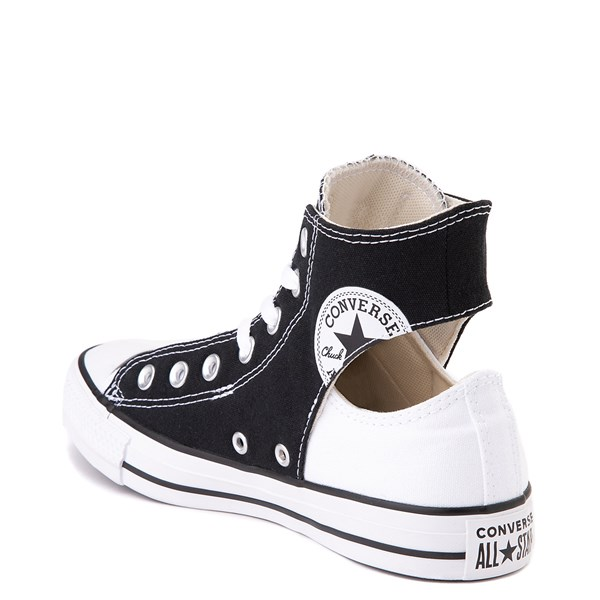 alternate view Converse Chuck Taylor All Star Hi Twisted Upper Sneaker - Black / WhiteALT2