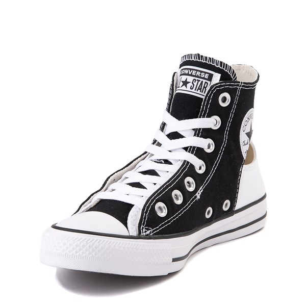 alternate view Converse Chuck Taylor All Star Hi Twisted Upper Sneaker - Black / WhiteALT3