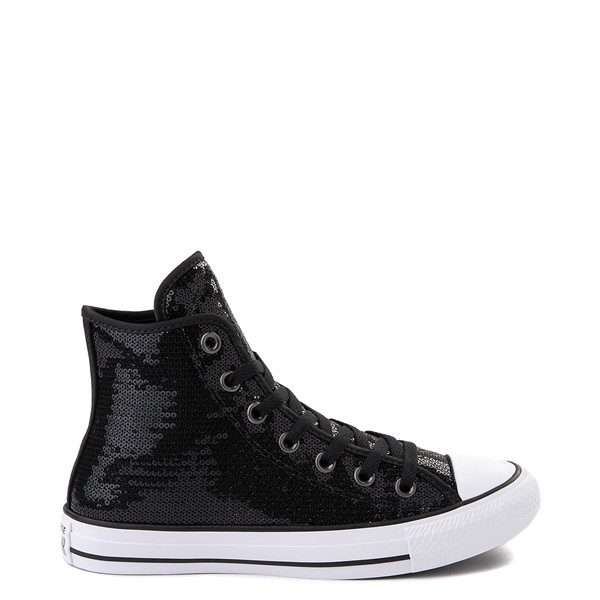 Converse Chuck Taylor All Star Hi Sequin Sneaker - Black