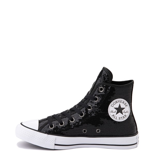 alternate view Converse Chuck Taylor All Star Hi Sequin Sneaker - BlackALT1