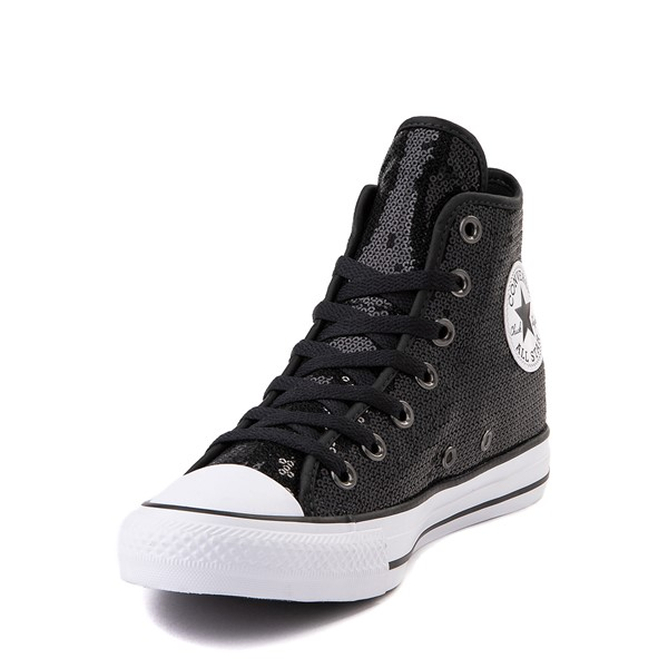 alternate view Converse Chuck Taylor All Star Hi Sequin Sneaker - BlackALT2