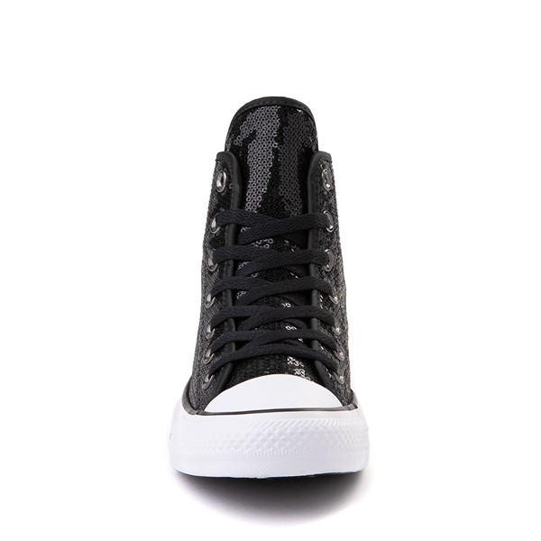 alternate view Converse Chuck Taylor All Star Hi Sequin Sneaker - BlackALT4