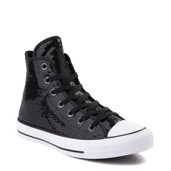 alternate view Converse Chuck Taylor All Star Hi Sequin Sneaker - BlackALT5