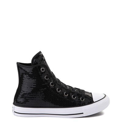 Main view of Converse Chuck Taylor All Star Hi Sequin Sneaker - Black