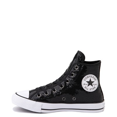 Alternate view of Converse Chuck Taylor All Star Hi Sequin Sneaker - Black