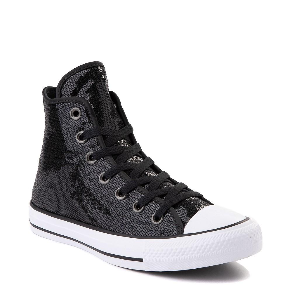 all black glitter shoes