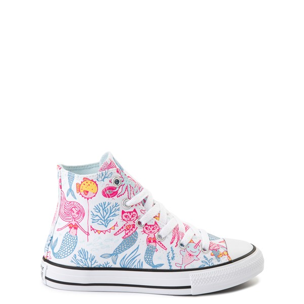 Converse Chuck Taylor All Star Hi Mermaids Sneaker - Little Kid / Big Kid - White / Multicolor