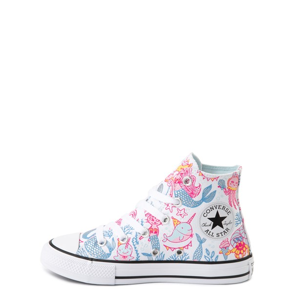 alternate view Converse Chuck Taylor All Star Hi Mermaids Sneaker - Little Kid / Big Kid - White / MultiALT1