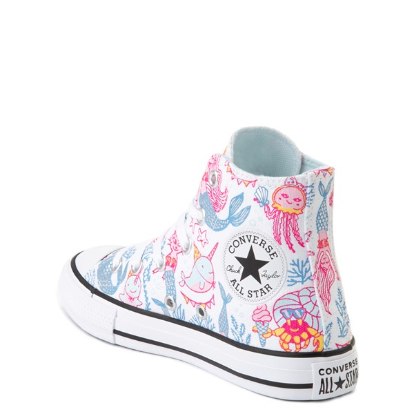 alternate view Converse Chuck Taylor All Star Hi Mermaids Sneaker - Little Kid / Big Kid - White / MultiALT2