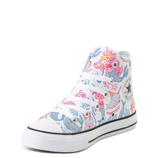 alternate view Converse Chuck Taylor All Star Hi Mermaids Sneaker - Little Kid / Big Kid - White / MultiALT3