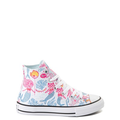 Main view of Converse Chuck Taylor All Star Hi Mermaids Sneaker - Little Kid / Big Kid - White / Multi