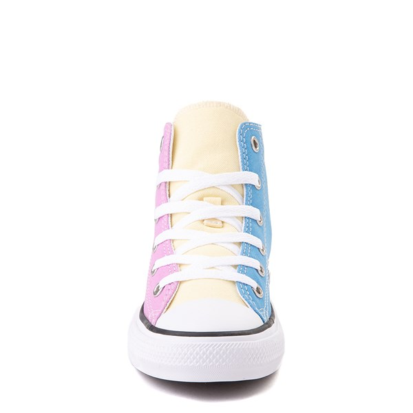alternate view Converse Chuck Taylor All Star Hi Color-Block Sneaker - Little Kid - MultiALT4