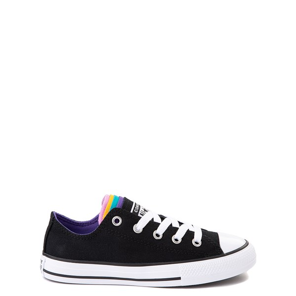 Converse Chuck Taylor All Star Lo Multi Tongue Sneaker - Little Kid - Black / Multi