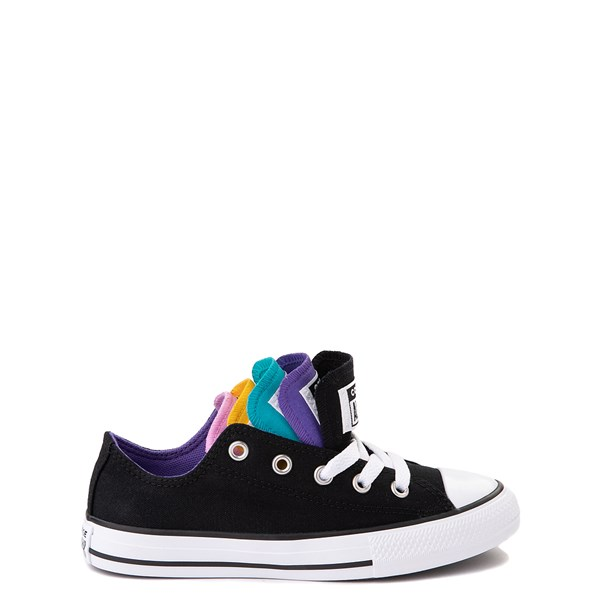 alternate view Converse Chuck Taylor All Star Lo Multi Tongue Sneaker - Little Kid - Black / MultiALT1
